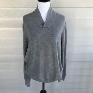 Ted Baker London Gray Cotton Pull Over Sweater